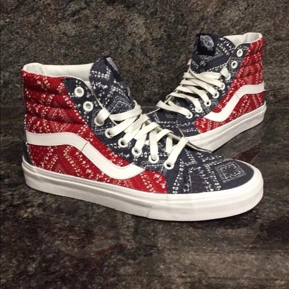 4394b4112fc Vans Sk8-Hi Reissue Ditsy Bandana Pepper Shoes